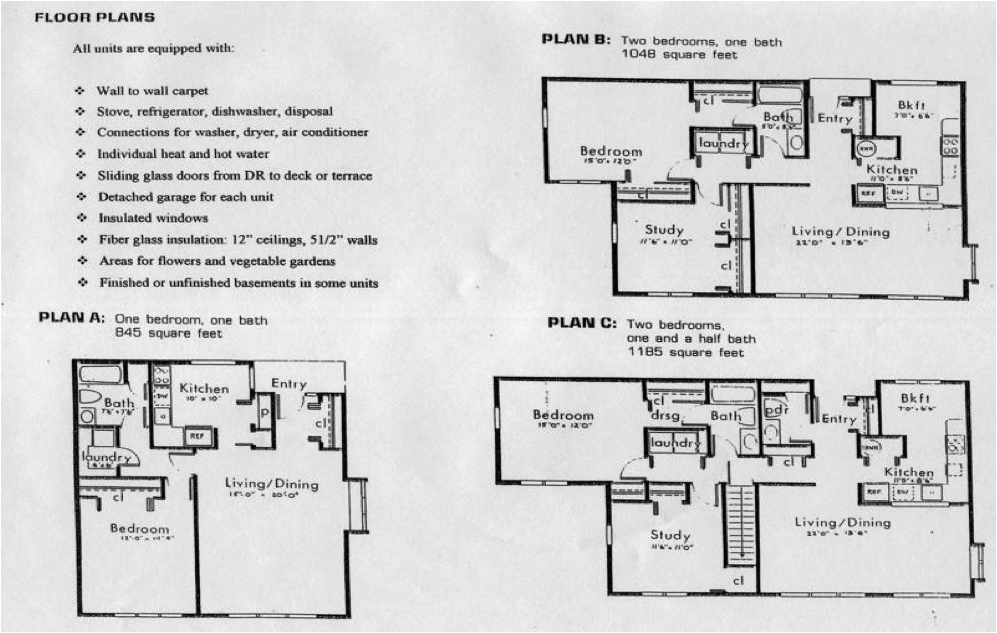 Glen Ridge Cooperative Floor Plans