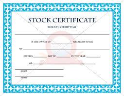 Stock Certifcate